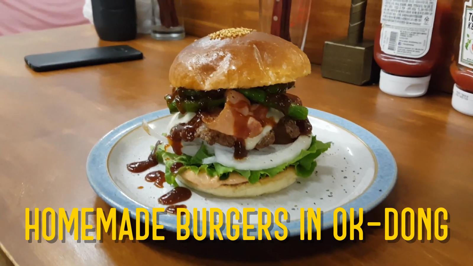 Homemade Hamburgers in Ok-Dong